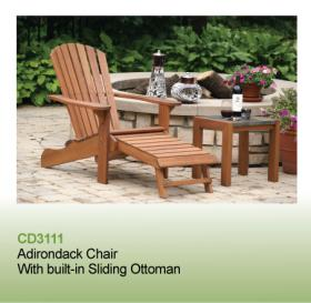 Adirondack Chair with Built-in Sliding Ottoman | eastendoutdoor.com